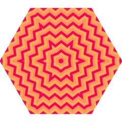 Chevron Peach Mini Folding Umbrellas
