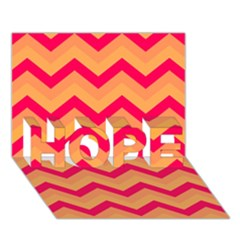 Chevron Peach Hope 3d Greeting Card (7x5)