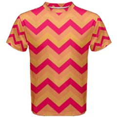 Chevron Peach Men s Cotton Tees