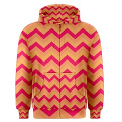 Chevron Peach Men s Zipper Hoodies