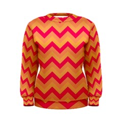 Chevron Peach Women s Sweatshirts