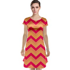 Chevron Peach Cap Sleeve Nightdresses