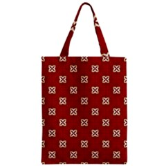 Cute Seamless Tile Pattern Gifts Zipper Classic Tote Bags
