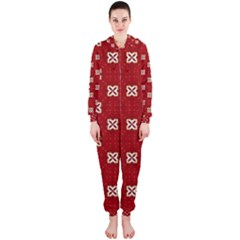 Cute Seamless Tile Pattern Gifts Hooded Jumpsuit (Ladies)