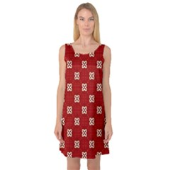 Cute Seamless Tile Pattern Gifts Sleeveless Satin Nightdresses