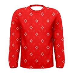 Cute Seamless Tile Pattern Gifts Men s Long Sleeve T Shirts