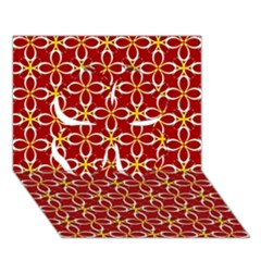 Cute Seamless Tile Pattern Gifts Clover 3D Greeting Card (7x5)