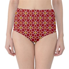 Cute Seamless Tile Pattern Gifts High Waist Bikini Bottoms