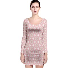 Cute Seamless Tile Pattern Gifts Long Sleeve Bodycon Dresses