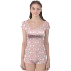 Cute Seamless Tile Pattern Gifts Short Sleeve Leotard