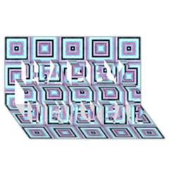 Cute Seamless Tile Pattern Gifts Happy New Year 3D Greeting Card (8x4)