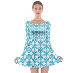 Cute Seamless Tile Pattern Gifts Long Sleeve Skater Dress