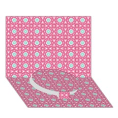 Cute Seamless Tile Pattern Gifts Circle Bottom 3D Greeting Card (7x5)