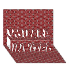 Cute Seamless Tile Pattern Gifts You Are Invited 3d Greeting Card (7x5)
