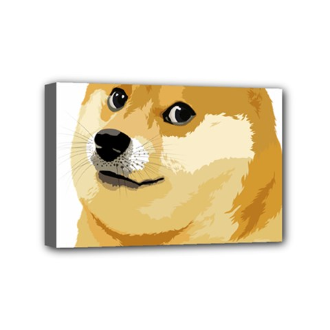 Dogecoin Mini Canvas 6  X 4