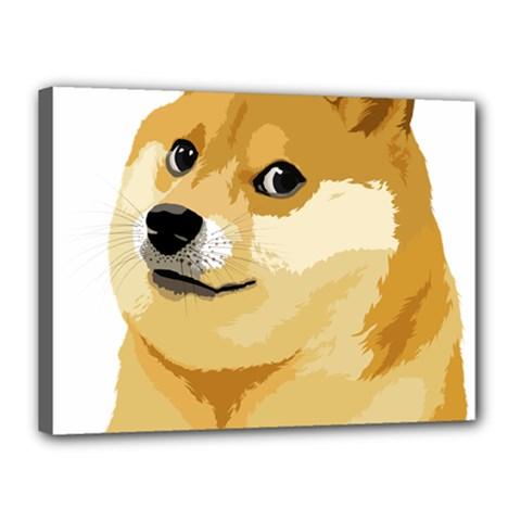 Dogecoin Canvas 16  x 12