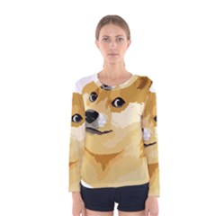 Dogecoin Women s Long Sleeve T Shirts