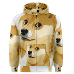 Dogecoin Men s Zipper Hoodies