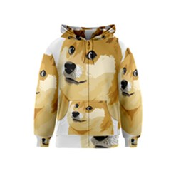 Dogecoin Kids Zipper Hoodies