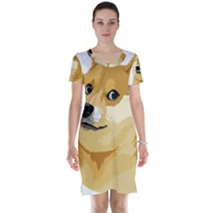 Dogecoin Short Sleeve Nightdresses