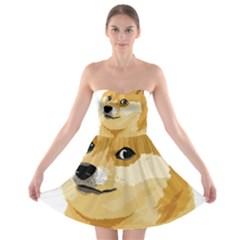 Dogecoin Strapless Bra Top Dress