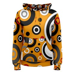 Florescent Orange Abstract  Women s Pullover Hoodie
