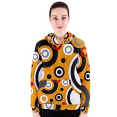 Bright Florescent Abstract Hoodie Women s Zipper Hoodies