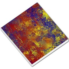 Abstract in Gold, Blue, and Red Small Memo Pads
