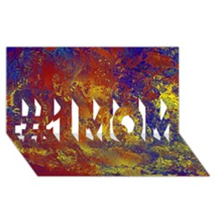 Abstract in Gold, Blue, and Red #1 MOM 3D Greeting Cards (8x4)