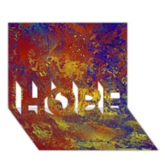 Abstract in Gold, Blue, and Red HOPE 3D Greeting Card (7x5)