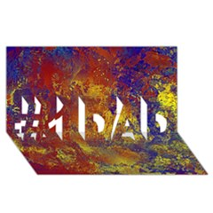 Abstract In Gold, Blue, And Red #1 Dad 3d Greeting Card (8x4)