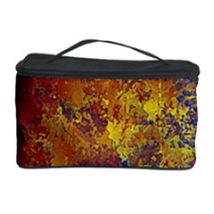 Abstract in Gold, Blue, and Red Cosmetic Storage Cases