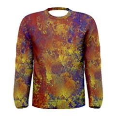 Abstract in Gold, Blue, and Red Men s Long Sleeve T-shirts