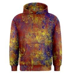 Abstract In Gold, Blue, And Red Men s Pullover Hoodies