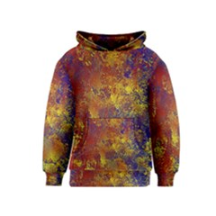 Abstract In Gold, Blue, And Red Kid s Pullover Hoodies