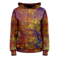 Abstract in Gold, Blue, and Red Women s Pullover Hoodies