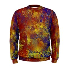Abstract in Gold, Blue, and Red Men s Sweatshirts