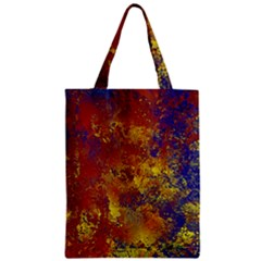 Abstract In Gold, Blue, And Red Zipper Classic Tote Bags