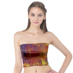 Abstract in Gold, Blue, and Red Women s Tube Tops