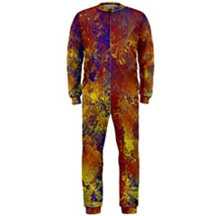 Abstract in Gold, Blue, and Red OnePiece Jumpsuit (Men)