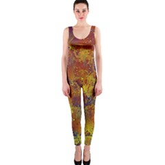 Abstract in Gold, Blue, and Red OnePiece Catsuits