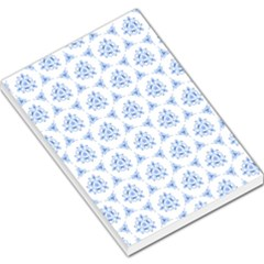 Sweet Doodle Pattern Blue Large Memo Pads