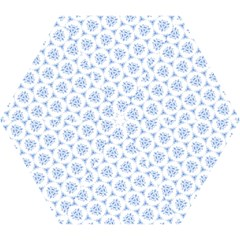 Sweet Doodle Pattern Blue Mini Folding Umbrellas