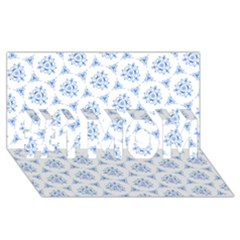 Sweet Doodle Pattern Blue #1 MOM 3D Greeting Cards (8x4)
