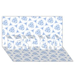 Sweet Doodle Pattern Blue BEST BRO 3D Greeting Card (8x4)