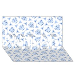 Sweet Doodle Pattern Blue #1 Dad 3d Greeting Card (8x4)