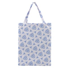 Sweet Doodle Pattern Blue Classic Tote Bags