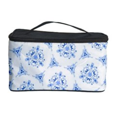 Sweet Doodle Pattern Blue Cosmetic Storage Cases