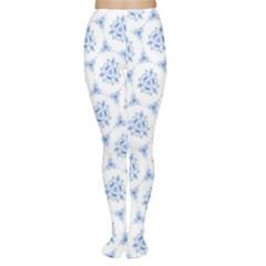Sweet Doodle Pattern Blue Women s Tights