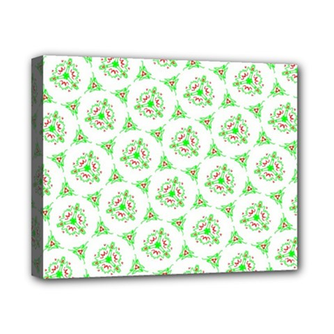 Sweet Doodle Pattern Green Canvas 10  X 8